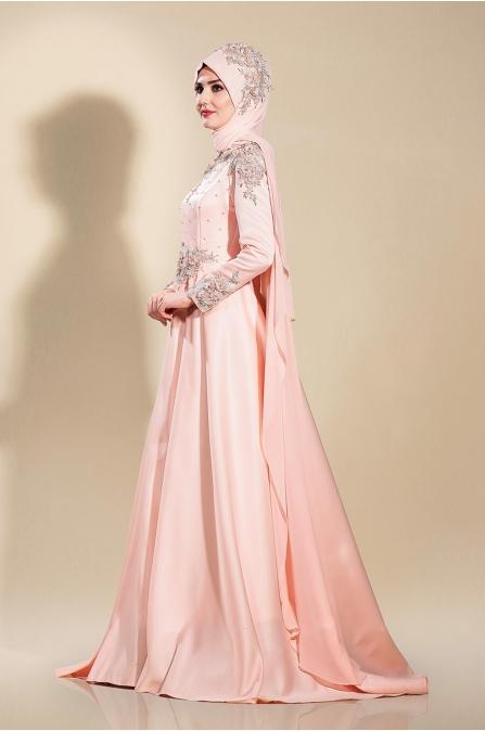 Firuze Abiye - Somon - Som Fashion