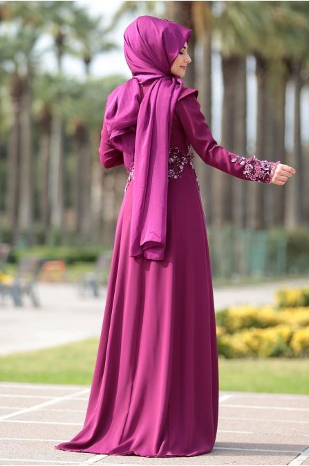 Som Fashion - Fuşya - Mimoza Abiye