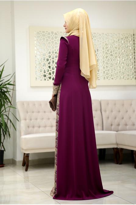 Burc Mürdüm Tesettür Abiye - Som Fashion