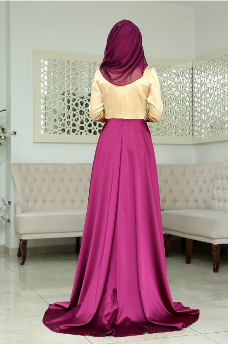 Osmanlı Abiye - Fuşya - Som Fashion