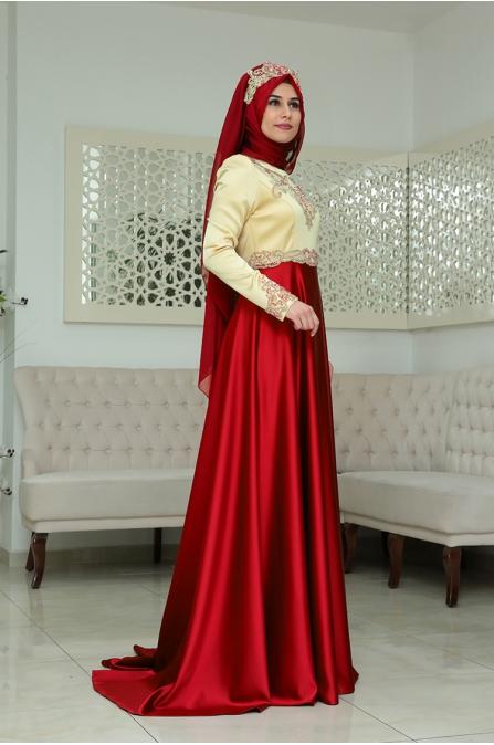 Osmanlı Abiye - Kırmızı - Som Fashion