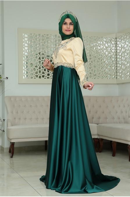 Osmanlı Abiye - Zümrüt Yeşil - Som Fashion