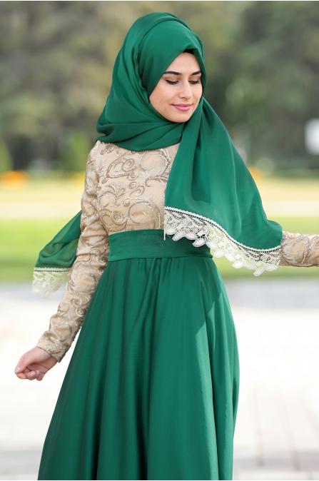 Som Fashion - Yakut Abiye - Zümrüt