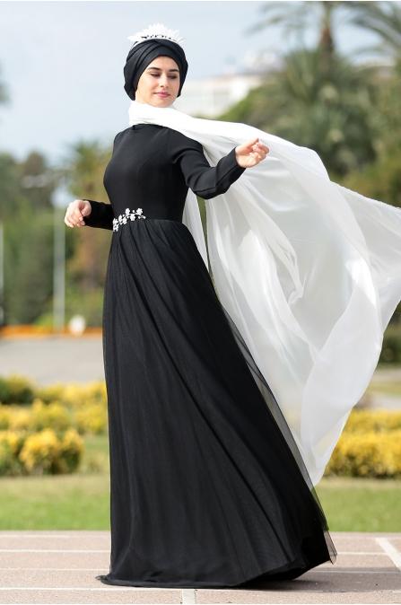 Zülal Abiye Som Fashion  Siyah