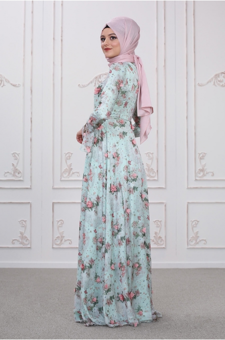 Bahar Elbise - Mint - Som Fashion