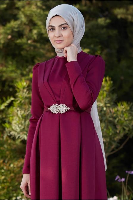 Zerafet Elbise Fuşya - Som Fashion