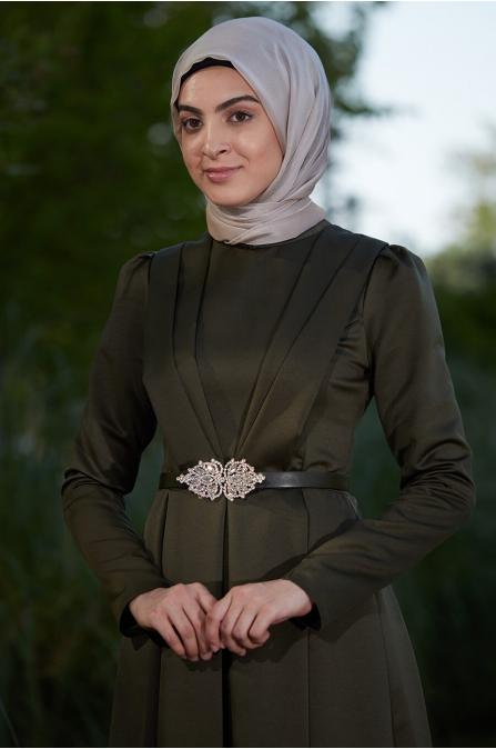 Zerafet Elbise Haki - Som Fashion