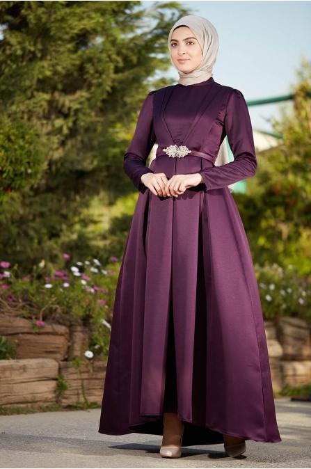 Zerafet Elbise Mürdüm - Som Fashion