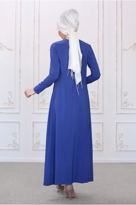 Burcu Tunik Pantolon Takım - Saks - Som Fashion