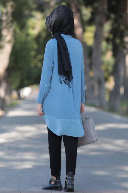 Som Fashion - Buz Mavi Tarz Tunik