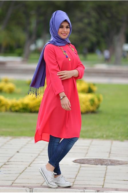 Sena Tunik - Nar Çiçeği - Som Fashion