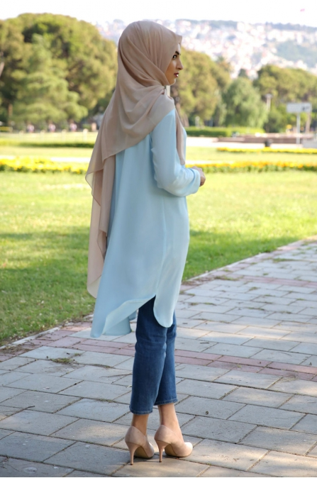 Som Fashion Sena Buz Mavi Tunik