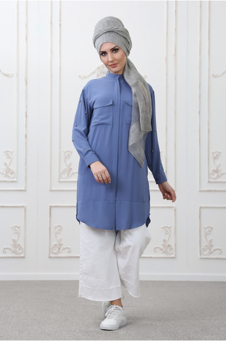 Tarz Tunik Mavi - Som Fashion