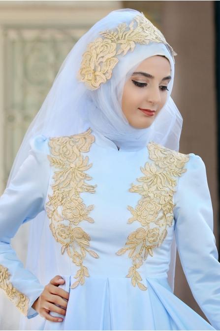 Eflin Abiye - Bebe Mavi - Sümay Moda
