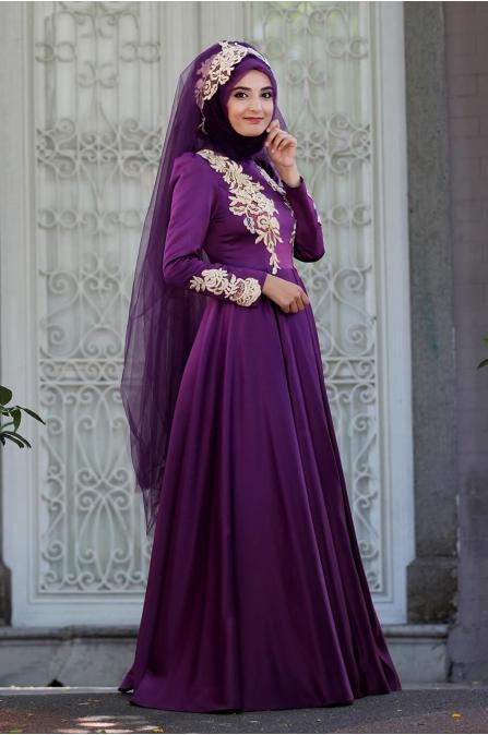 Eflin Abiye - Mor - Sümay Moda