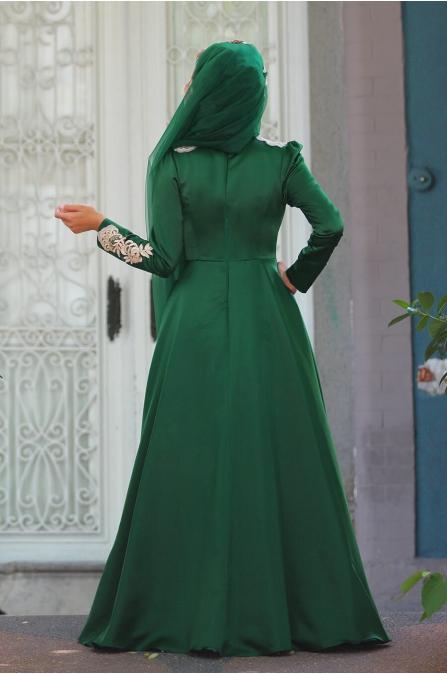 Eflin Abiye - Zümrüt - Sümay Moda