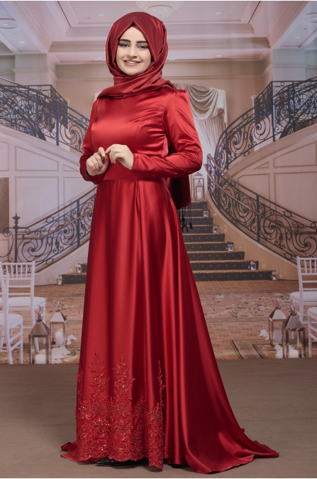 Sümay - Kayra Abiye - Kırmızı
