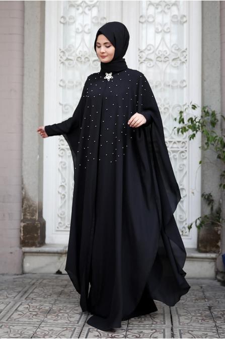 Mahpeyker Abiye  - Siyah - Sümay Moda