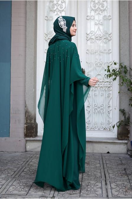 Mahpeyker Abiye  - Zümrüt - Sümay Moda