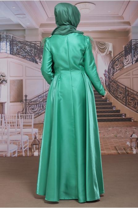 Sümay - Asmina Yeşil Abiye