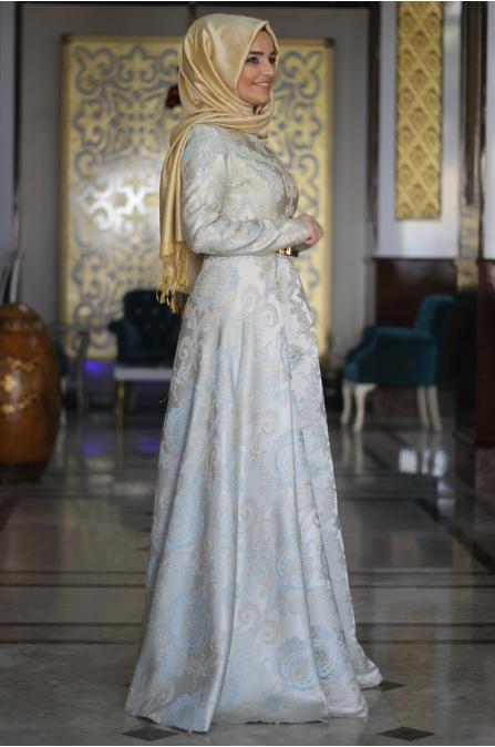 Sümay - Bebe Mavisi Azra Abiye Elbise