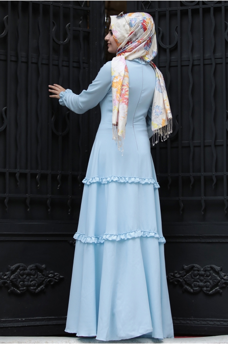 Sümay - Defne Elbise - Bebe Mavisi