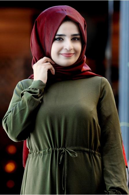 Elisa Elbise - Haki - Sümay Moda