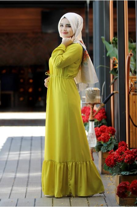 Elisa Elbise - Sarı - Sümay Moda