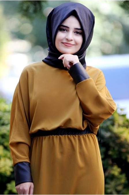 Sümay - Fulya Elbise - Hardal