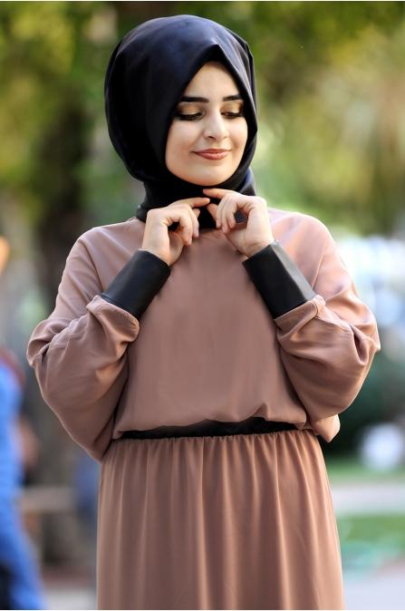 Sümay - Fulya Elbise - Vizon