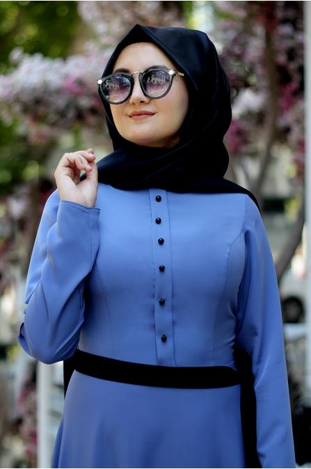 Sümay - Marin Elbise - Mavi