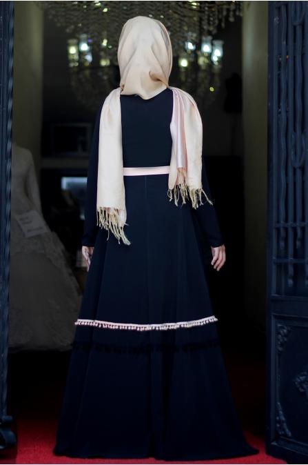Sümay - Marin Elbise - Siyah