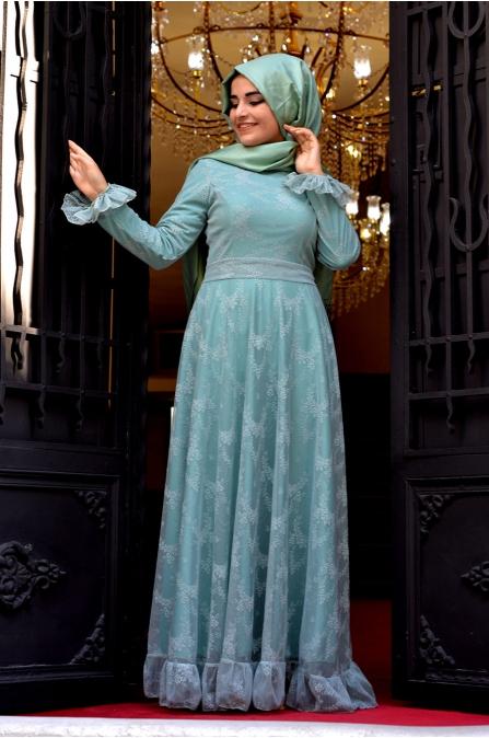 Sümay - Mint Nehir Elbise