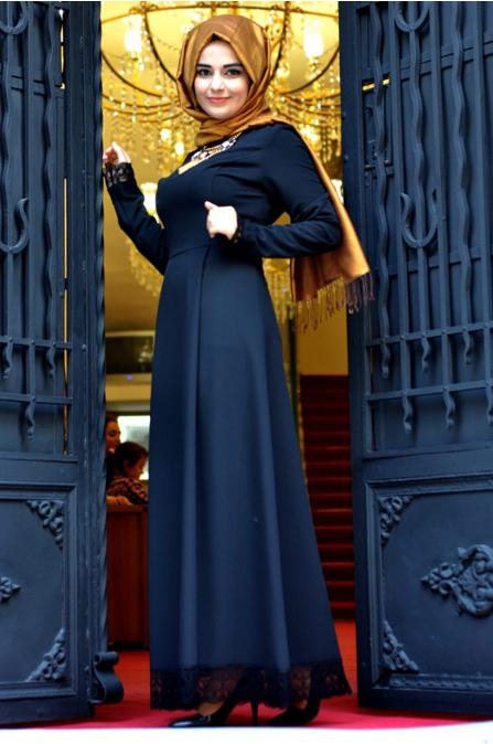 Sümay - Siyah Hesna Elbise