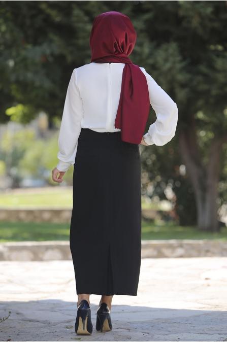 Sümay - Siyah Etek Gömlek Takım