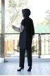 Siyah İkili Takım - Vizon Garnili