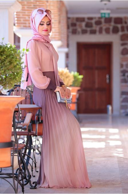 Hasret Elbise - Pudra - Sümeyra Aksu