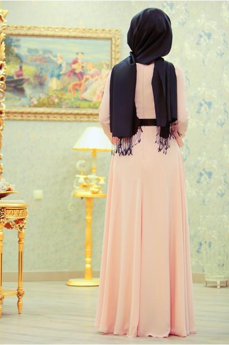 Linsa Elbise - Pudra - Sümeyra Aksu