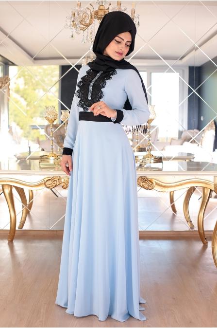 Nisa Elbise - Mavi - Sümeyra Aksu
