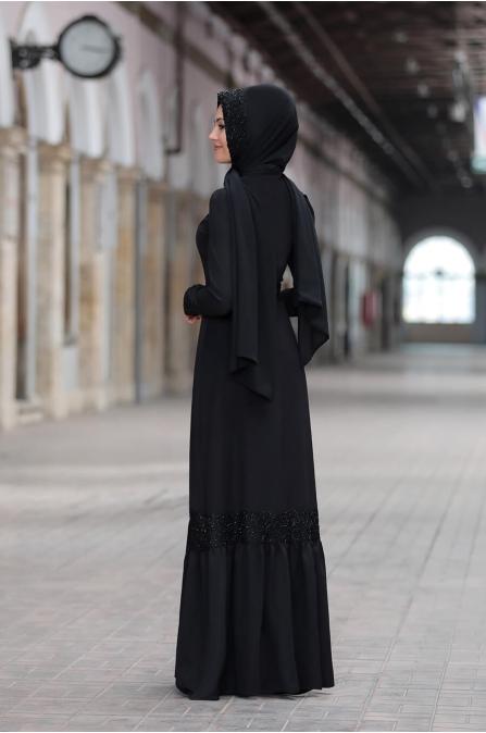 Buket Elbise - Siyah - Sure Tesettür