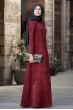 Esin Kadife Elbise - Bordo - Sure Tesettür