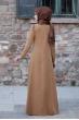 Esin Kadife Elbise - Taba - Sure Tesettür