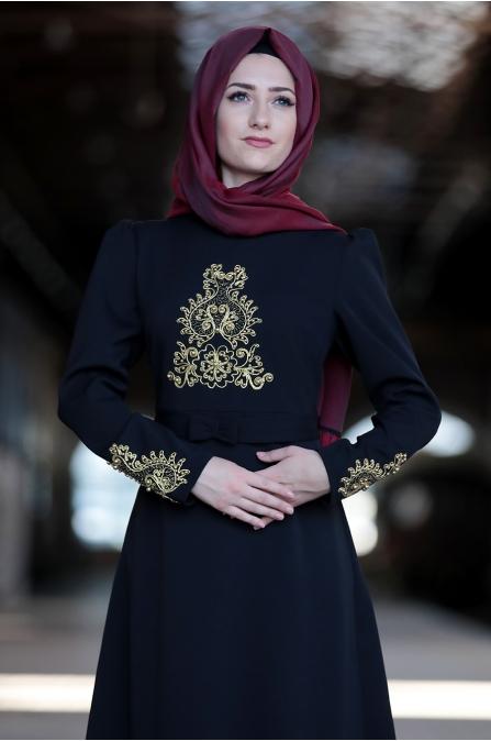 Sure - Feyza Elbise  - Siyah