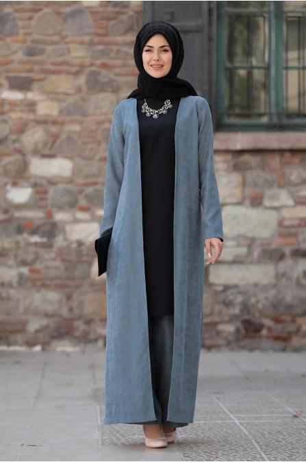 Simay Ceket Pantolon Bluz Takım - Mavi