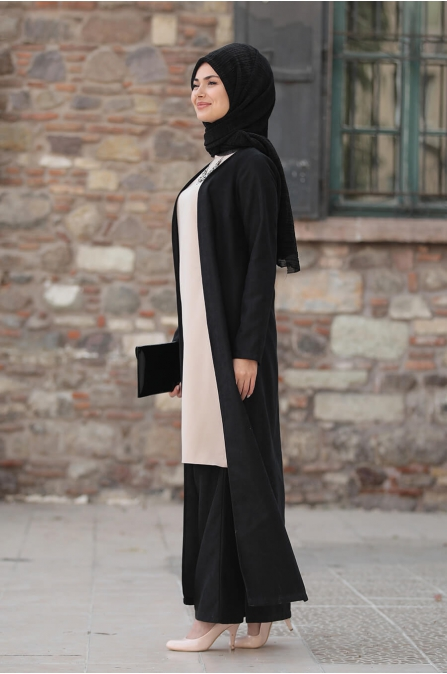 Simay Ceket Pantolon Bluz Takım - Siyah