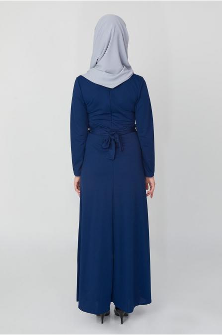 Düğme Detaylı İncili Elbise - Saks