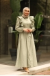 Fırfırlı Elbise Çağla Yeşili