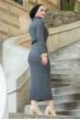 Boğazlı Triko Elbise - Antrasit