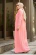 Hırka Elbise Örgü Takım - Pembe