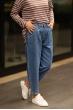 Yüksek Bel Mom Jean Mavi Pantolon